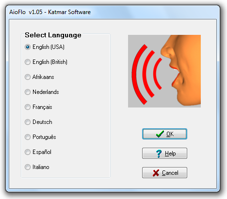 Selecting the interface language