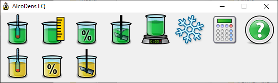 AlcoDens LQ main screen