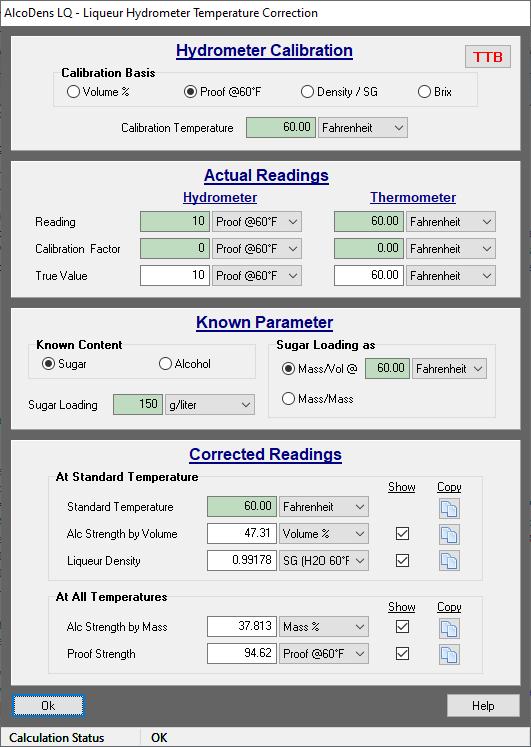 Liqueur Hydrometer Temperature Correction Calculator Alcodens Lq