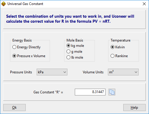 Convert Universal Gas Constant into different units